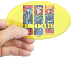 Amazon Com Cafepress Doctor Strange Panels 2 Oval Bumper Sticker Euro Oval Car Decal Home Kitchen
