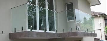 glass railing panels deck