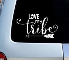 Love My Tribe Decal Permanent Vinyl Decal Bumper Sticker Etsy