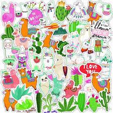 Cute Alpaca Cactus Sticker Pvc Waterproof Notebook Motorcycle Car Scooter Wallpaper Decals Stickers Wallpaper Sticker From Man88 4 73 Dhgate Com