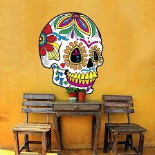 Sugar Skull Wall Decal Halloween Wall Decal Sugar Skull Wall Decor Sugar Skull Wall Vinyl Decal Halloween Wall Decor Mc557 Skull Wall Decor Halloween Wall Decor Vinyl Wall Decals