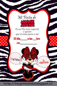 Invitacion Fiesta Minnie Invitaciones Minnie Invitacion De