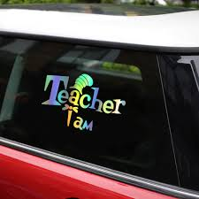I M A Teacher Decals Car Sticker Car Styling Decoration Door Window Vinyl Stickers Car Accessories For Car Car Stickers Aliexpress