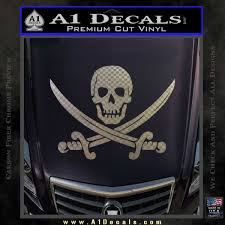 Jolly Roger Pirate Skull Decal Sticker A1 Decals