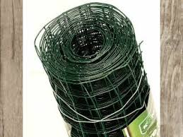 Green Pvc Coated Mesh Wire Fencing Roll 1m X 5m Rolls