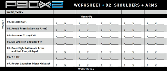 shoulders and arms parison p90x and