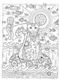 Creative Cats Coloring Page Dover Lienzos Pintados Mandalas