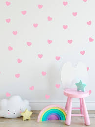 Hearts Decal Choose Your Color Scandinavian Design Girly Etsy