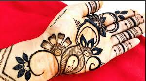 simple stylish simple mehndi design front hand