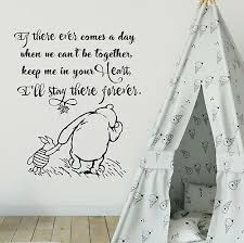 Quote Nursery Wall Stickers Classic Winnie The Pooh Decals Vinyl Art Decor Rm78 Ebay