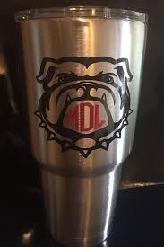 Georgia Bulldog Decal Uga Decal Georgia Bulldogs Yeti Monogram Etsy Yeti Monogram Bulldog Georgia Bulldogs