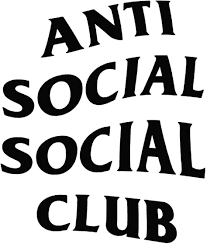Amazon Com Anti Social Social Club Vinyl 5 5 Inches Color Black Decal Laptop Tablet Skateboard Car Windows Sticker Computers Accessories