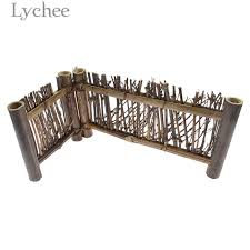 Lychee Japanese Style Bamboo Fence Panels Mini Fence Sand Tray Decoration Home Miniatures Decors Figurines Miniatures Aliexpress