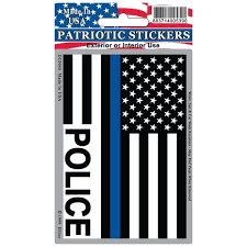 Shop Police Blue Line Usa Flag Patriotic Car Decal Overstock 20855449