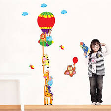 Removable Children Height Wall Stickers Kids Growth Chart Height Measure Measuring Tape Wall Sticker Cartoon Decal Home Decor Balloon Height Wall Stickers Buy Online In Bosnia And Herzegovina Yesimai Products