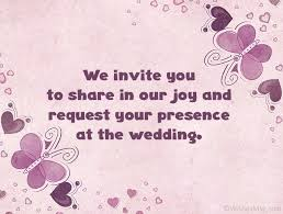 wedding invitation messages and wording