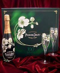 perrier jouet flower bottle gift set
