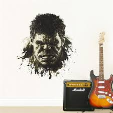 Incredible 3d Hulk Head Through Wall Decal Extremely Limited The Decal House