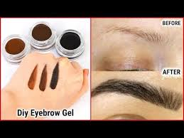 diy waterproof eyebrow gel you