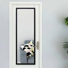 plastic framed over door mirror black