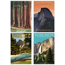 Yosemite National Park California Mariposa Wall Decal Set At Retro Planet