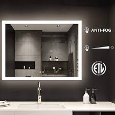 dimmable touch wall mounted vanity mirrors