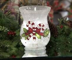 frosted glass vase with micro lights by
