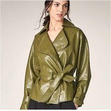 2020 faux leather coat women xs 2xl