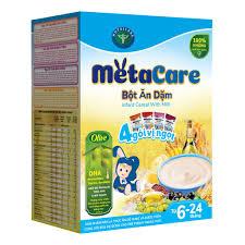 CHÍNH HÃNG] Bột ăn dặm Metacare 4 gói vị ngọt dinh dưỡng toàn diện cho bé  tinh anh, khỏe mạnh