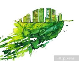 Green City Wall Mural Pixers We Live To Change