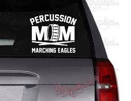 Percussion Mom Vinyl Decal Drum Decal Drum Sticks Percussion Snare Drum Marching Band Band Personalize Car Decal Sticker In 2020 Sports Vinyl Decals Vinyl Personalized Car Personalization