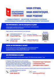 Как проголосовать по поправкам в Конституцию РФ 1 июля 2020