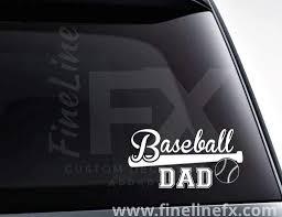 Baseball Dad Baseball Bat And Ball Vinyl Decal Sticker