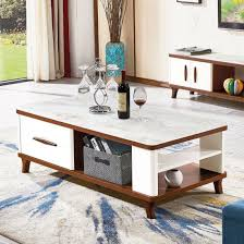 wood glass top coffee and end tables