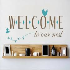 Design With Vinyl Welcome To Our Nest Wall Decal Wayfair
