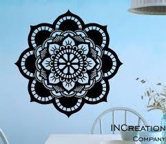 Wall Decals Mandala Om Yoga Decal Fashion Bedroom Decor Boho Sticker Vinyl Mr375 For Sale Online Ebay