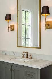 brass bathroom sconce