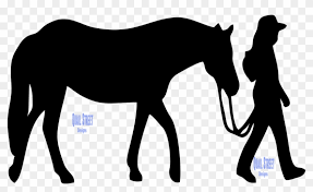 Girl Leading Horse Vinyl Decal Western Riding Free Transparent Png Clipart Images Download