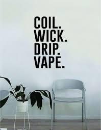 Coil Wick Drip Vape Wall Decal Sticker Vinyl Art Bedroom Room Home Dec Boop Decals
