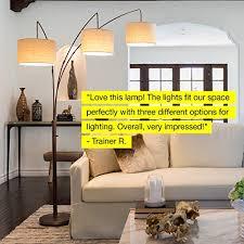 brightech trilage arc floor lamp w