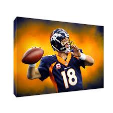 Denver Broncos Peyton Manning Omaha Hurry Poster Photo Painting Canvas Wall Art