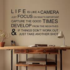 Life Is Like A Camera Wall Decal Inspiration Quote Family Vinyl Room Mural Decor Ebay