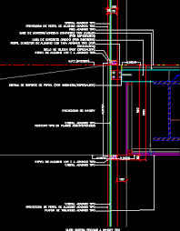 curtain wall detail in autocad cad