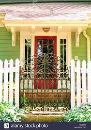 White Picket Fence Gate High Resolution Stock Photography And Images Alamy
