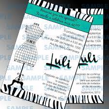Invitaciones Cumpleanos Cocktail Modernas Zebra Print 100 00