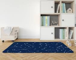Blue Nursery Rug Etsy