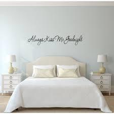 Vwaq Always Kiss Me Goodnight Vinyl Wall Decal Reviews Wayfair