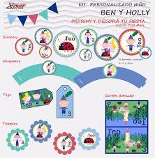 Kit Imprimible Personalizado Cumpleanos Ben Y Holly Nene Ben Y
