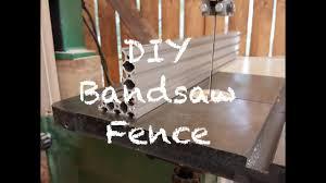 Diy Bandsaw Fence Youtube