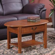 shaker oval coffee table in medium oak